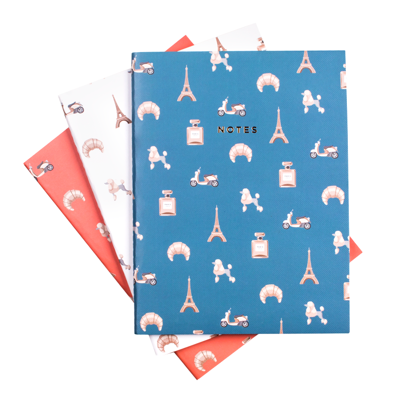 Paris Notebook Set