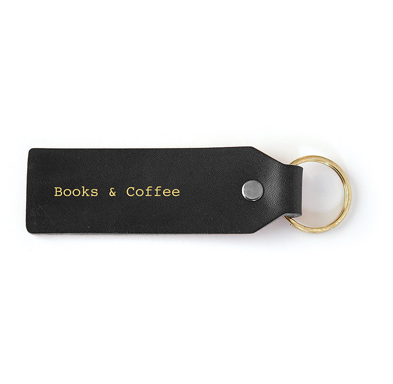 Books + Coffee Key Tag