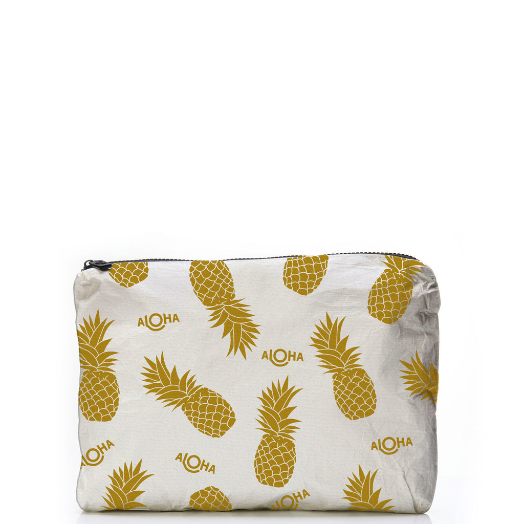 Mid-Sized Pineapple Gold Pouch