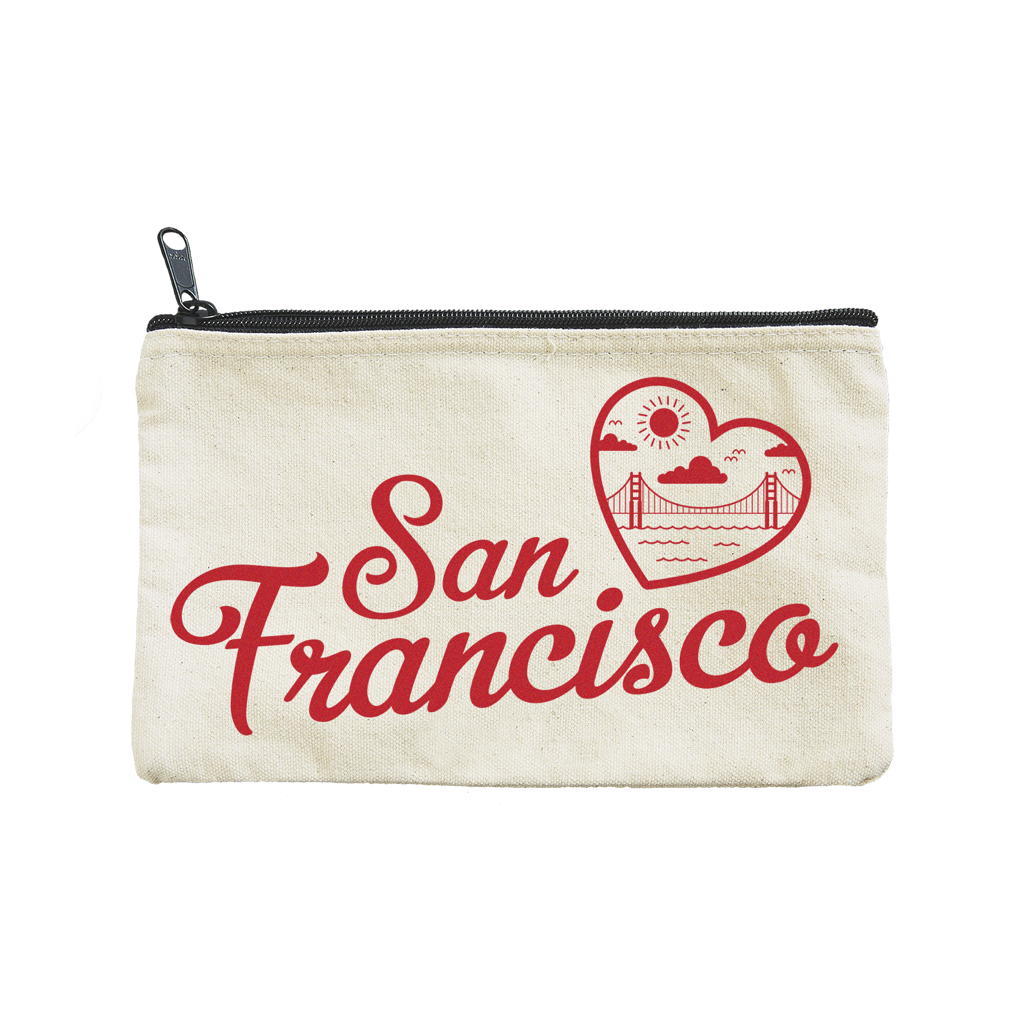 San Francisco Heart Pouch