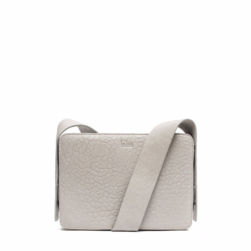 The Pebbled Lunchbox Crossbody in Stone
