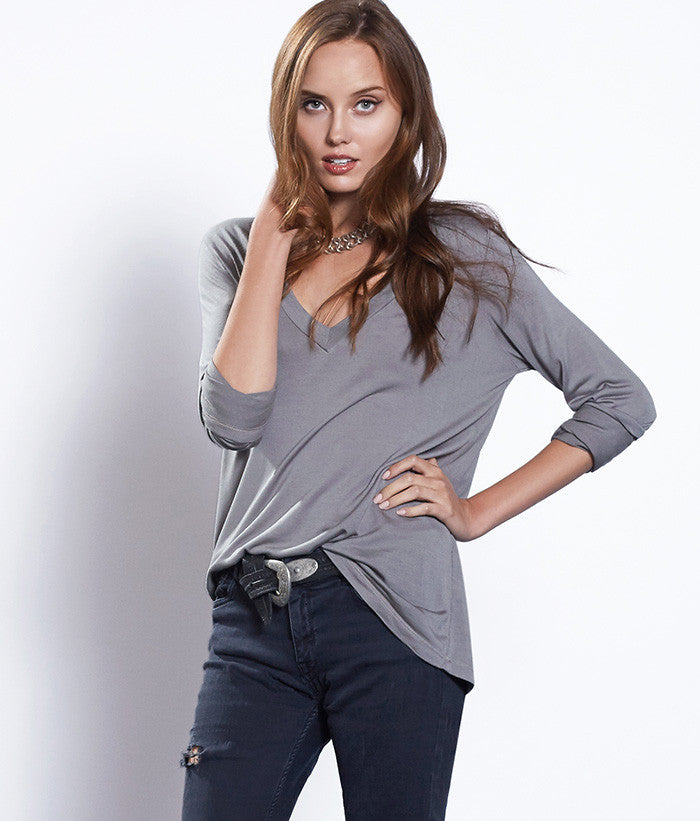 Beechwood Long Sleeved V-Neck Tee