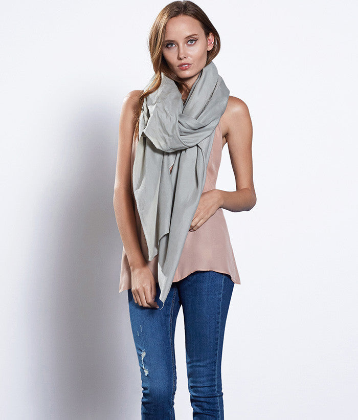 Oversized Silk Scarf