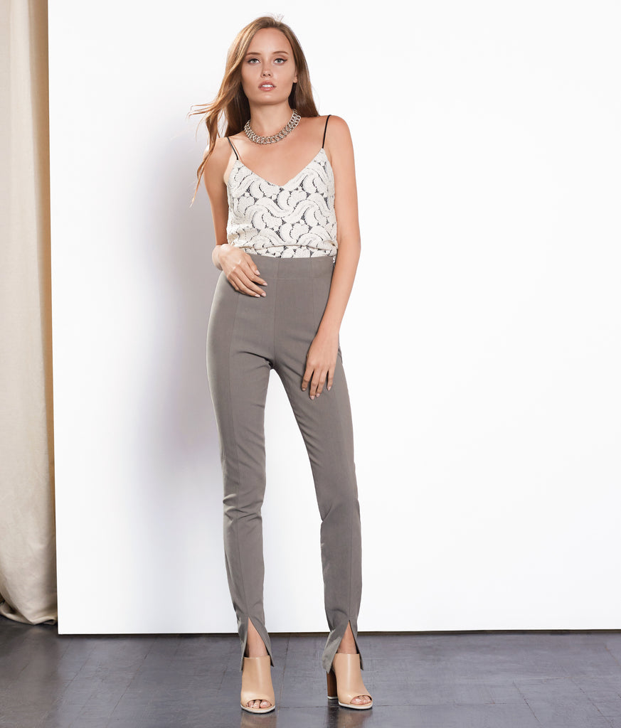 Eucalyptus High Waisted Stretch Trouser