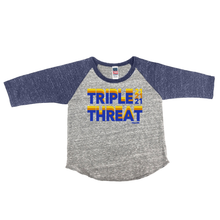 Triple Threat 21 Kids Raglan