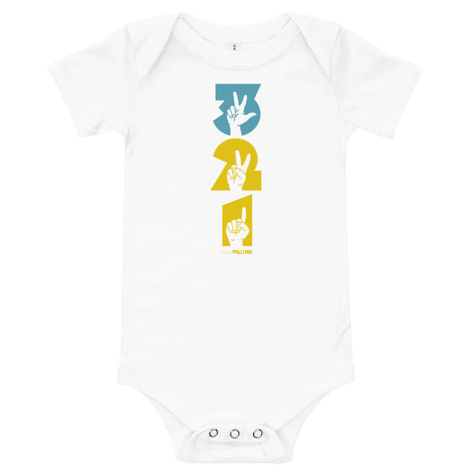 Three Two One Babies Onesie