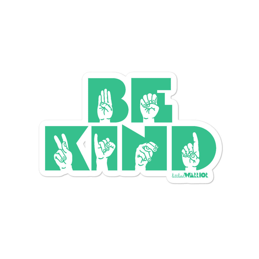 ASL Be Kind Sticker