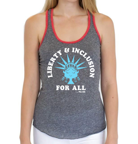 Liberty & Inclusion For All Women's Fitted Tank