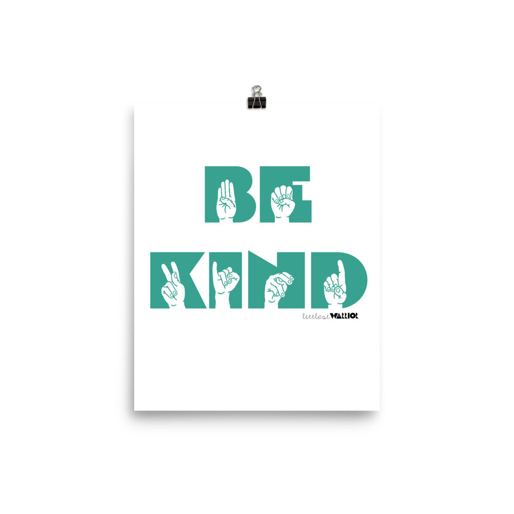 ASL Be Kind Poster