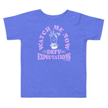 Watch Me Defy Expectations (Purple Ink) Kids Tee