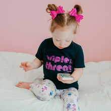 Triple Threat 21 (Pink Ink) Kids Tee
