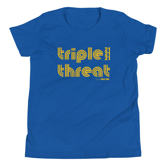 Triple Threat 21 (Yellow Ink) Youth Tee