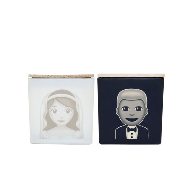 BRIDE AND GROOM CANDLES (GIFT SET)