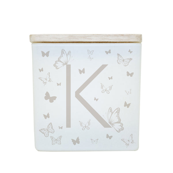 BUTTERFLY MONOGRAM CANDLE