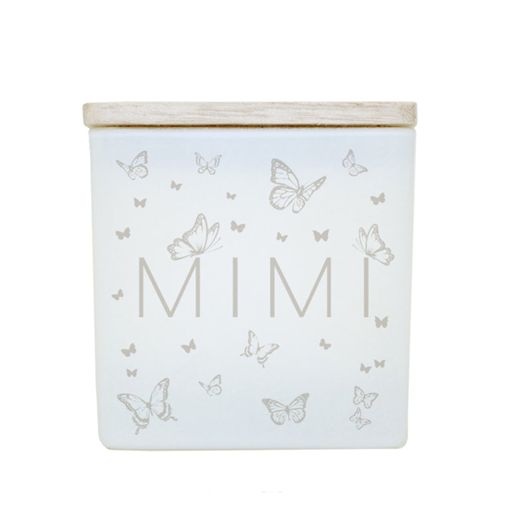 BUTTERFLY NAME CANDLE