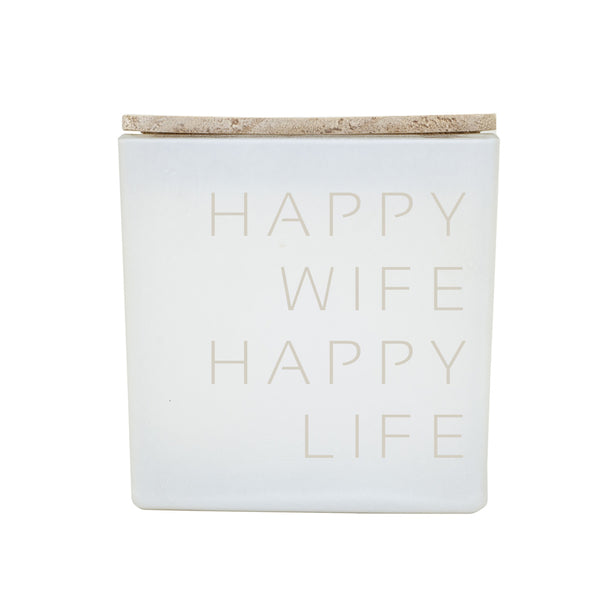 HAPPY WIFE HAPPY LIFE CANDLE IG