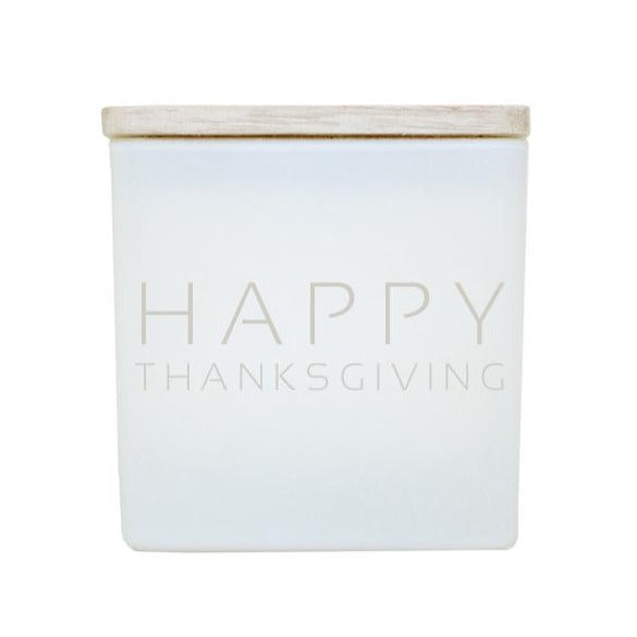 HAPPY THANKSGIVING CANDLE