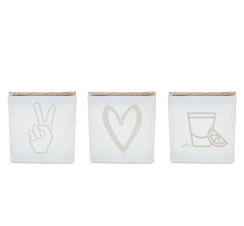 PEACE LOVE TEQUILA CANDLE (GIFT SET)