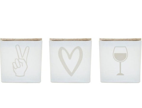 PEACE LOVE WINE CANDLE (GIFT SET)