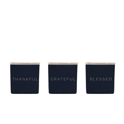 THANKFUL, GRATEFUL, BLESSED CANDLES (GIFT SET)