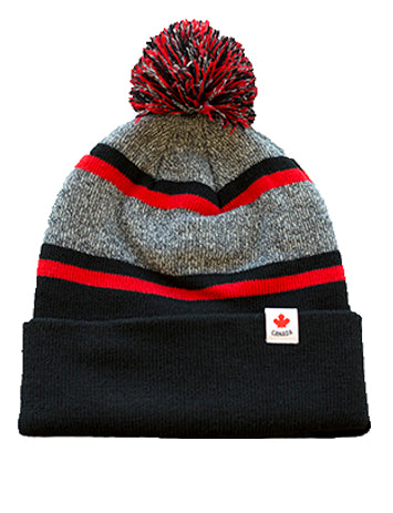 U SPORTS Canada AJM International Toque (Black/Grey/Red-O/S)