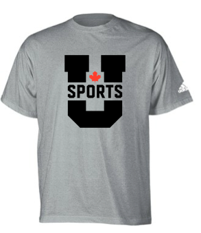 U SPORTS Adidas Team Tee (Grey-Youth)