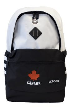 U SPORTS Team Canada Classic 3S Backpack (Black/White-O/S)