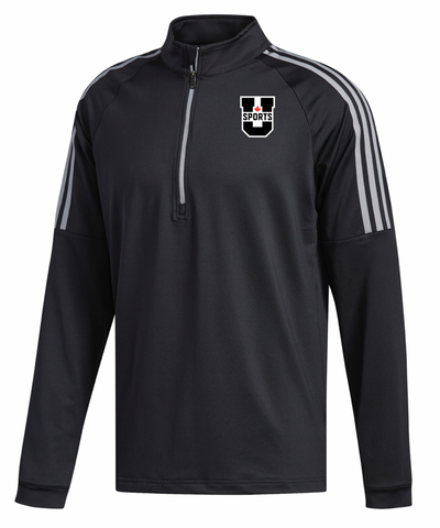 U SPORTS Adidas 3 Striped 1/4 Zip (Black-Men)