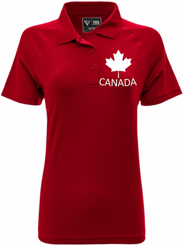 U SPORTS Levelwear Canada Polo (Red-Women)