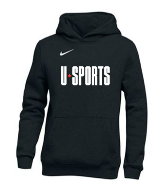 U SPORTS Team Nike Fleece Hoodie (Black - Unisex)