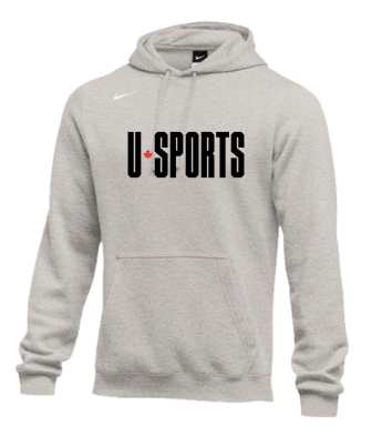 U SPORTS Team Nike Fleece Hoodie (Light Grey - Unisex)