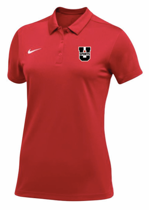 U SPORTS Team Nike S/S Polo  (Red - Women)