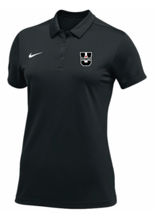 U SPORTS Team Nike S/S Polo  (Black - Women)