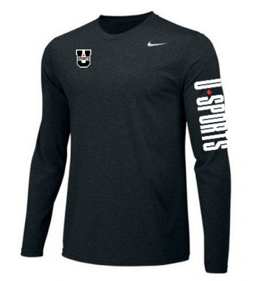 U SPORTS Team Nike Legend L/S (Black - Men)