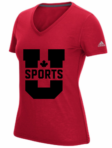 U SPORTS Adidas Ultimate Tee (Red-Women)
