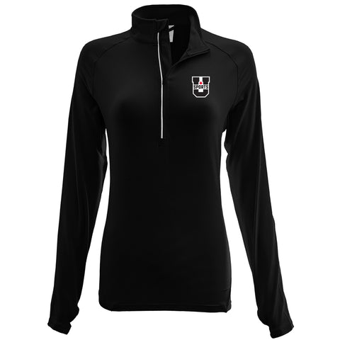 U SPORTS Levelwear 1/4 Zip (Black-Women)