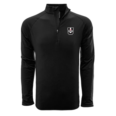 U SPORTS Levelwear 1/4 Zip (Black-Men)