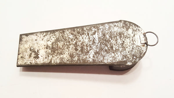 Antique Hand Made Tin Coffin Style Nutmeg Grater with Storage Compartment