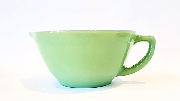 Fire King Jadeite Batter Bowl w/ Spout and Handle Made in USA