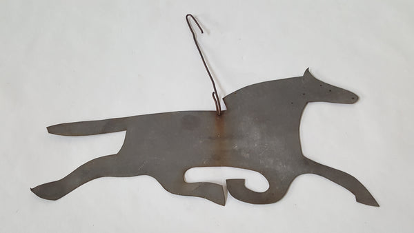 Vintage Running Horse Sheet Metal Cut-Out Wall Hanging