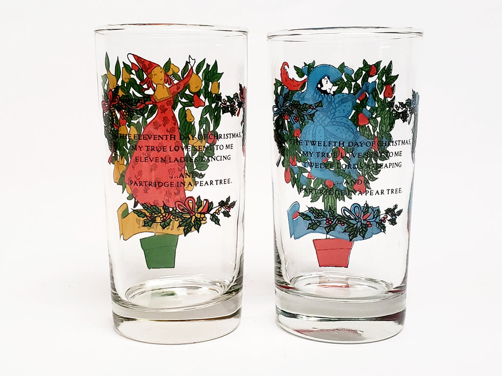 Vintage Indiana Glass Twelve Days of Christmas Complete Set With ...