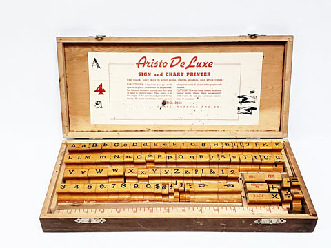 Vintage Aristo De Luxe Wood Block Printing Set