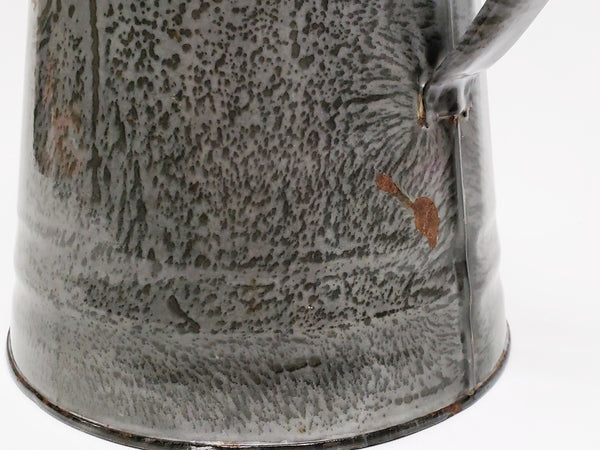Gray Mottled Enamelware Coffee Pot