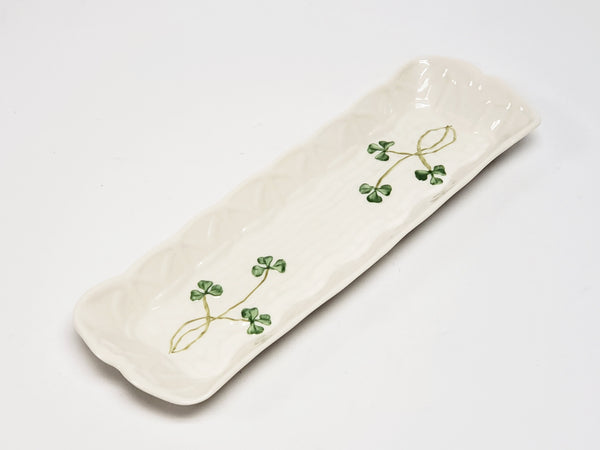 Shamrock Mint Tray by Belleek, Ireland