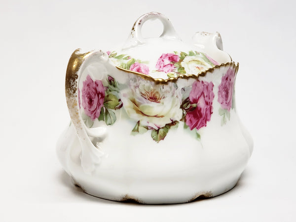 Wurttemberg Antique German Floral Sugar Bowl
