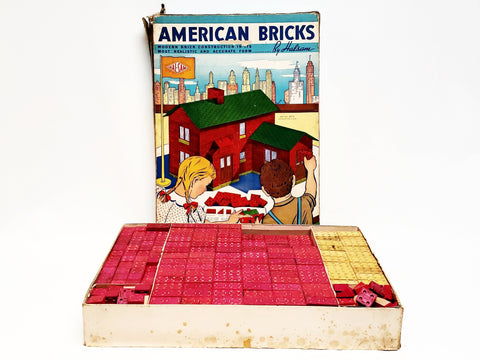 Wooden American Blocks With Original Box - Over 15 pounds