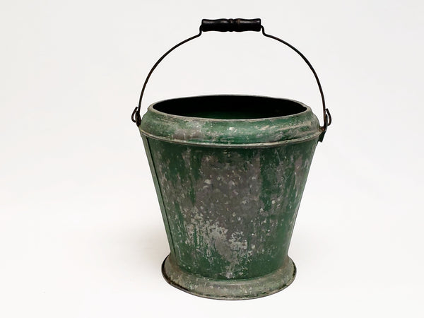 Farmhouse Metal Farm Bucket with Original Green Paint
