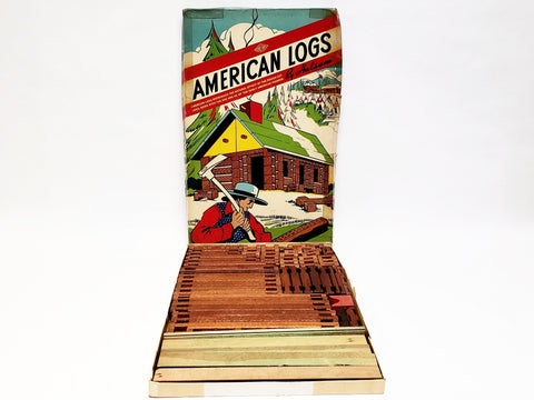 Vintage American Logs by Halsam in Original Box - 86 pieces