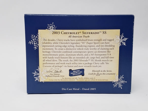 Hallmark Pair of Ford and Chevrolet Keepsake Ornaments