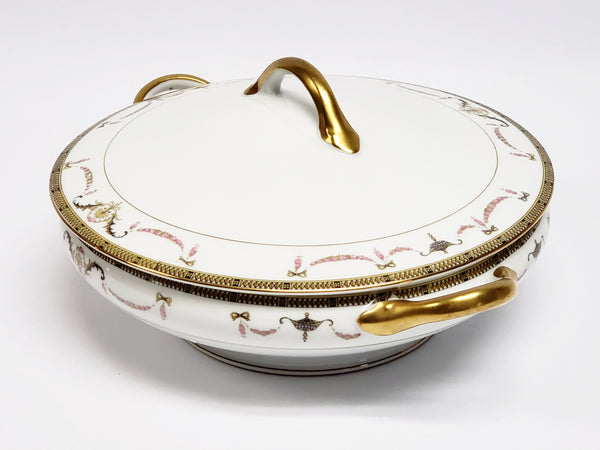 Noritake China Round Vegetable Serving Bowl with Lid -  The Sahara